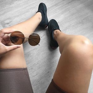 Accessories - Brown Round Oversize Sunglasses